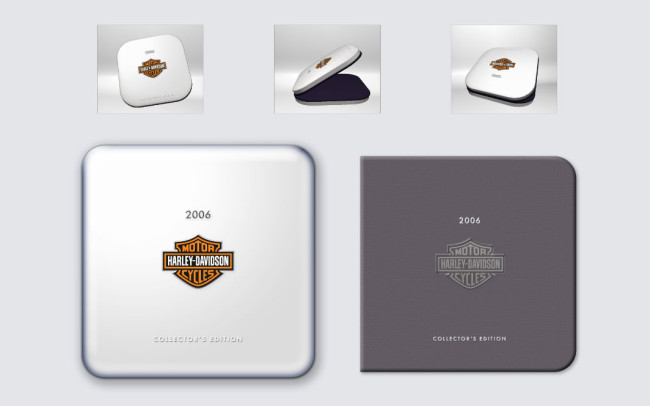 Harley Davidson Annual Report: Case and Book Cover Design • Client (1 of 2): Personal Work